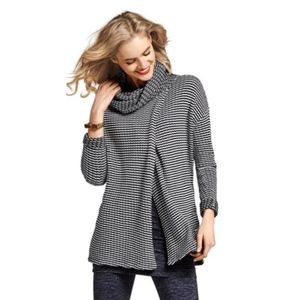 CAbi Fergi Split Front Turtleneck Sweater